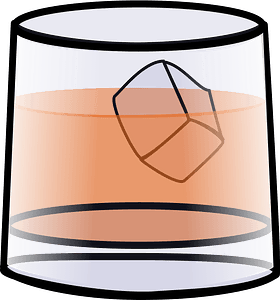 Whisky glass clipart