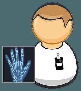 X-ray technician clipart
