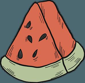 Slice of watermelon clipart