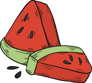 Slices of watermelon clipart