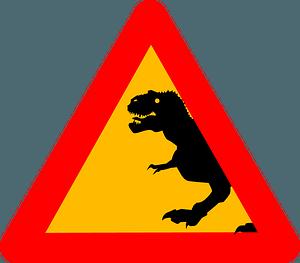 Tyrannosaurus rex sign clipart
