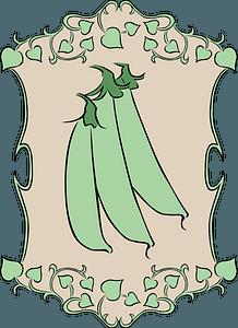Garden sign peas clipart