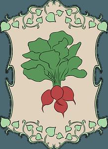 Garden sign radish clipart
