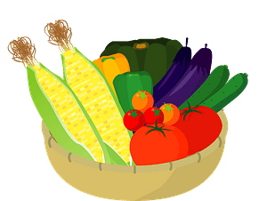 Vegetables in a bowl clipart