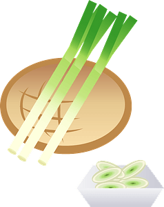 Japanese bunching onion clipart