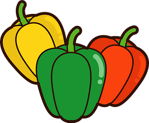 Paprika vegetables clipart