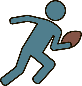Quarterback throwing clipart