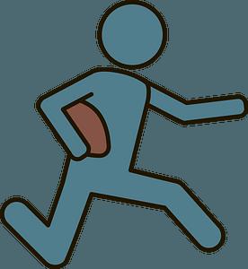 Running back clipart