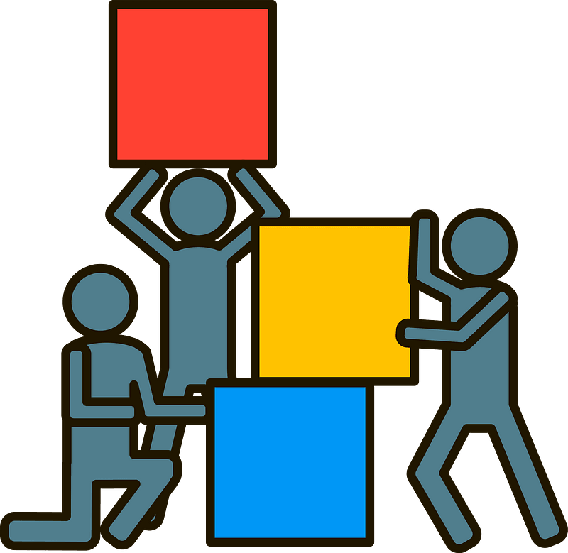 Team building clipart