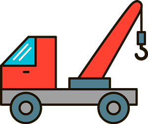 Tow truck clipart
