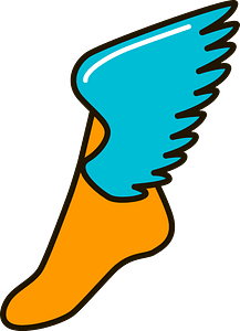 Winged foot clipart