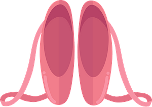 Ballet shoes clipart