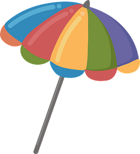 Beach umbrella clipart