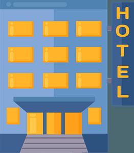 Hotelのクリップアート