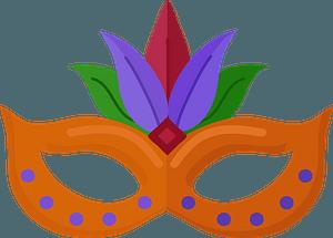 Mardi Gras maskのクリップアート
