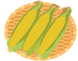 Ears of Corn on a Plate clipart