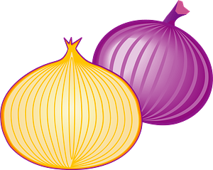 Red and White Onions clipart