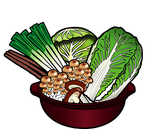 Vegetables and mushrooms in a pan clipart