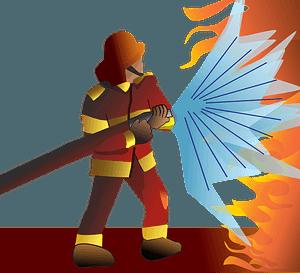 Firefighter/pompier clipart