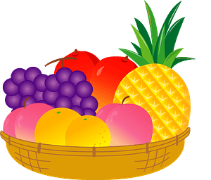 Fruit in a Basket clipart