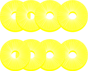 Pineapple Slices clipart