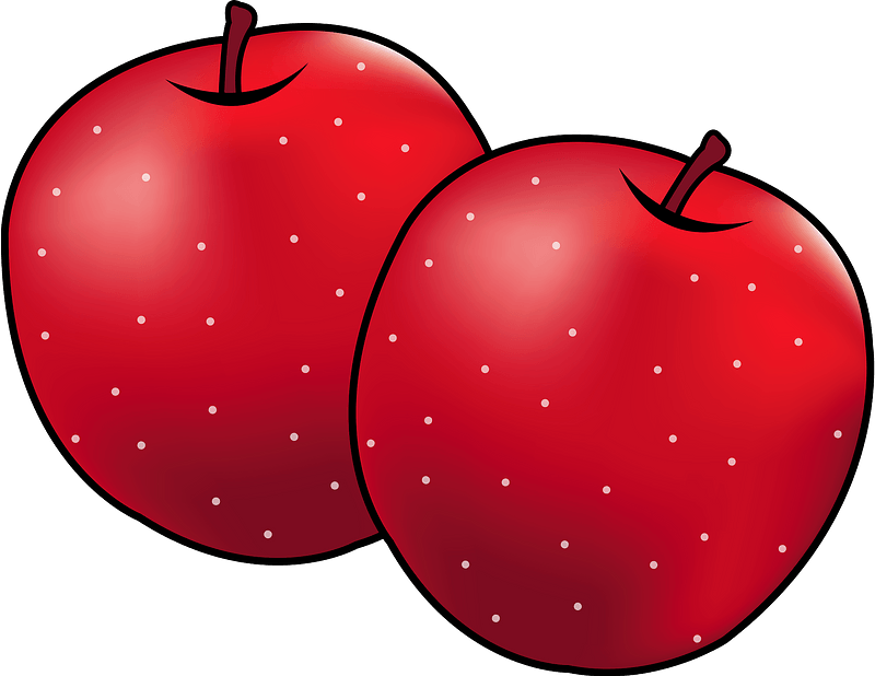 Apple fruits food clipart