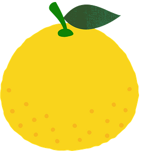 Yuzu fruits clipart