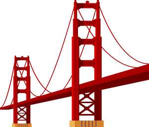 Golden Gate Bridge clipart