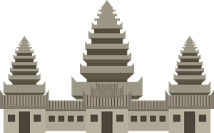 Angkor Wat clipart