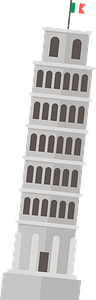 Leaning Tower of Pisa clipart