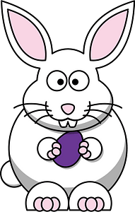 Cartoon bunny with egg clipart