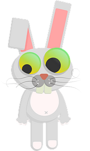 Cartoon rabbit clipart