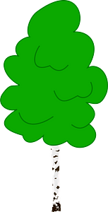 Birch with Green Leaves clipart