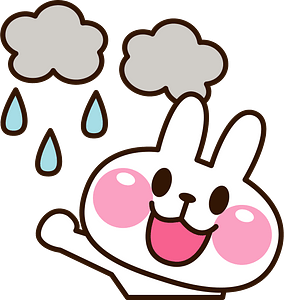 Rabbit is in the rain 클립 아트