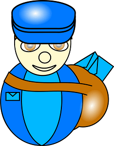 Post man clipart