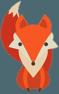Cartoon red fox clipart
