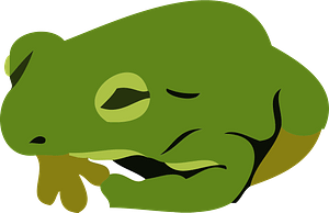 Japanese tree frog clipart
