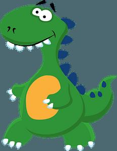 Cute dinosaurのクリップアート
