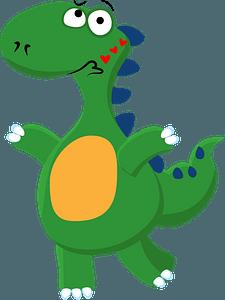 Dinosaur sending kissesのクリップアート