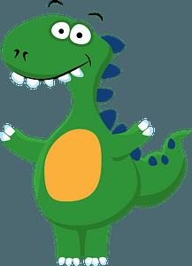 Dinosaur wanting hugsのクリップアート