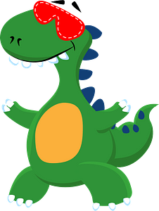 Dinosaur with eye mask clipart
