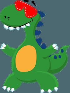 Dinosaur with eye maskのクリップアート