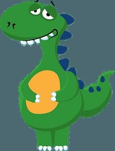 Satisfied dinosaur clipart