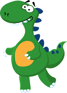 Smiling dinosaurのクリップアート