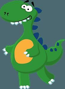 Smiling dinosaur clipart