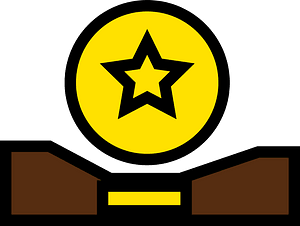 Belt with star clipart