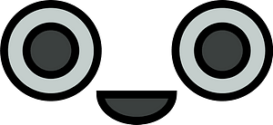 Smiling robot face clipart