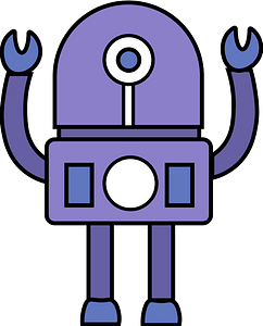 Robot mechanic clipart