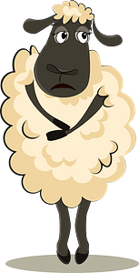 Sad sheep clipart