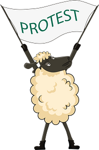 Sheep protesting clipart